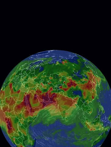 Real-time world air quality map